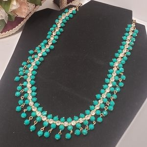 Gorgeous Avon Green Crystal Statement Necklace